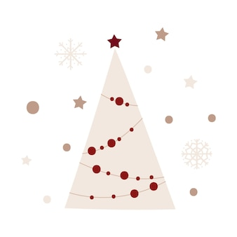 Christmas tree design. vector illustration.