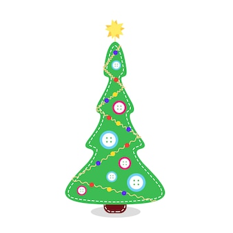 Christmas tree fabric buttons stitched christmas tree alternative traditional christmas tree
