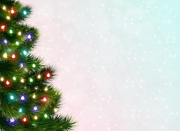 Christmas tree festive background