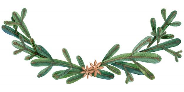 Christmas tree green garland