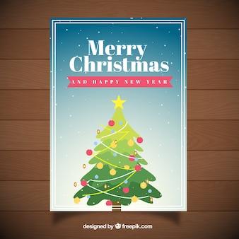 크리스마스 트리 인사말 카드