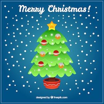 三角形で作られたクリスマスツリーのグリーティングカード