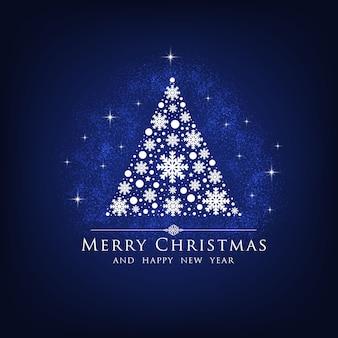 Christmas tree greetings card.