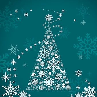 Christmas tree holiday design background vector
