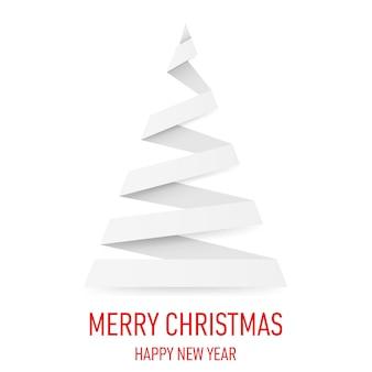 折り紙スタイルのクリスマスツリー。