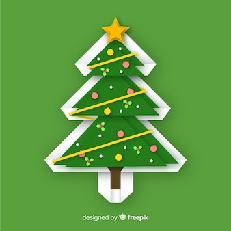 Рождественская елка в стиле бумаги