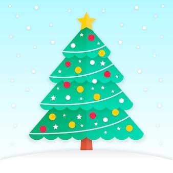 Рождественская елка в бумажном стиле