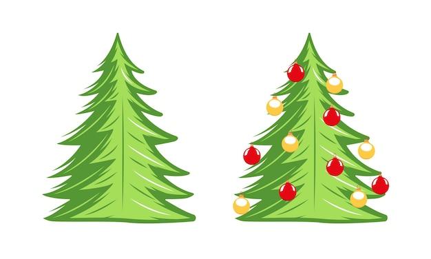 흰색 배경에 고립 된 크리스마스 트리