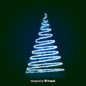 Christmas tree light line background