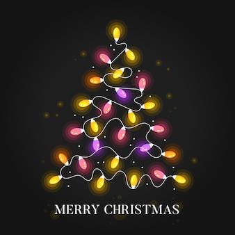 Christmas tree made of light bulbs