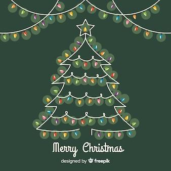 Рождественская елка из легкой гирлянды
