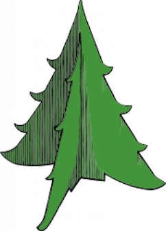 Christmas tree made with fold paper