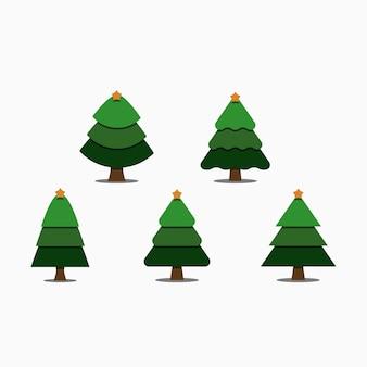 Рождественская елка минимальный плоский набор