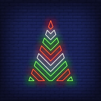 Christmas tree in neon style
