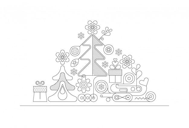 クリスマスツリーネオン