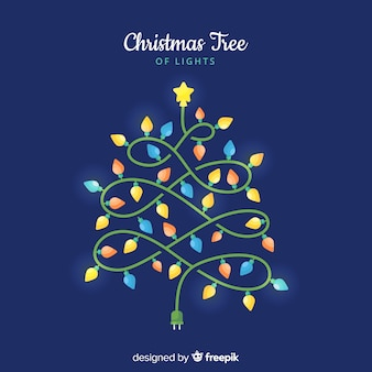 Christmas tree of lights background