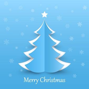 Рождественская елка на синем фоне элементы дизайна для праздника