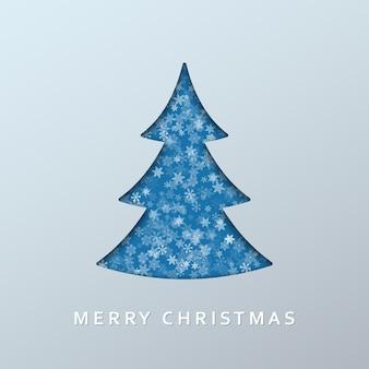 Рождественская елка на светлом фоне для праздника