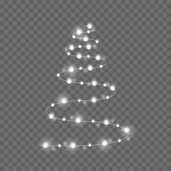 透明なクリスマスツリー