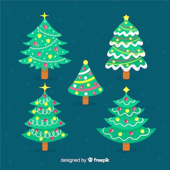 Christmas tree pack in hand drawn
