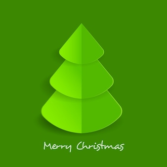 Christmas tree in paper style