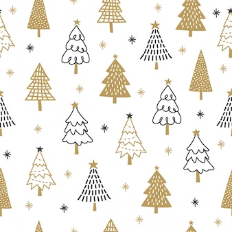 Christmas tree pattern background.