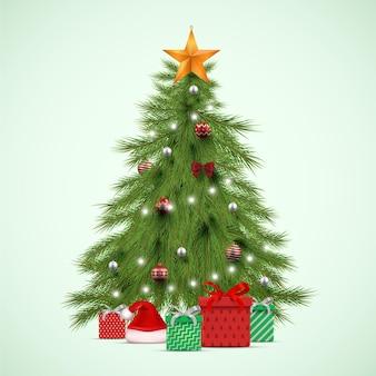 Рождественская елка реалистичная иллюстрация