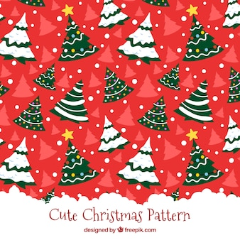 Christmas tree red pattern