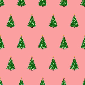 Christmas tree seamless pattern. endless background on a christmas theme. vector.