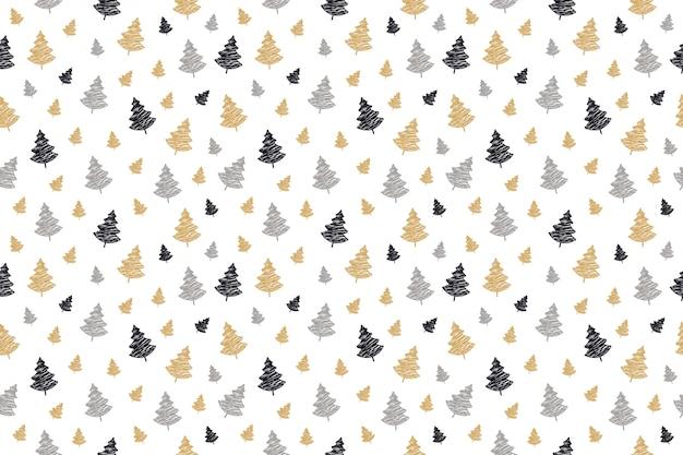 Christmas tree seamless pattern