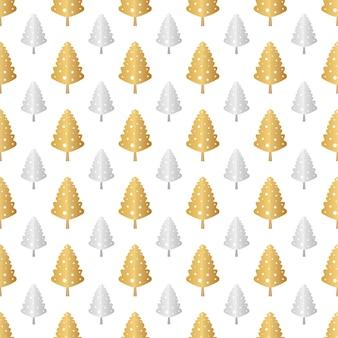 クリスマスツリーシームレスパターン