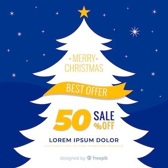 Christmas tree silhouette christmas sale background