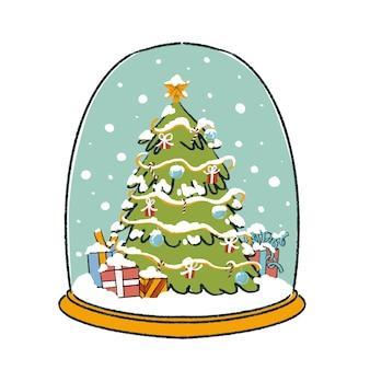 크리스마스 트리 스노우 글로브