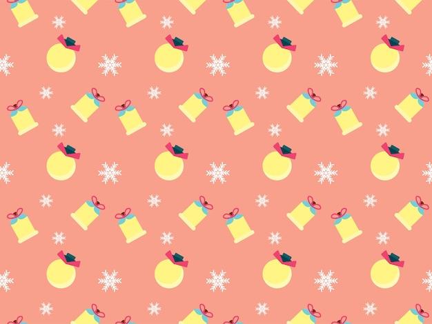 クリスマスツリーの星のパターンクリスマスイラスト
