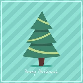 Christmas tree vector flat