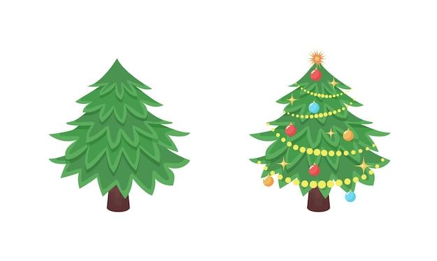 싸구려와 인사말 디자인을 위한 장난감이 없는 크리스마스 트리