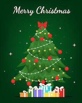 装飾が施されたクリスマスツリー