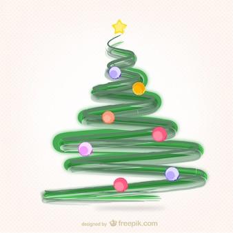 페인트 선으로 크리스마스 트리