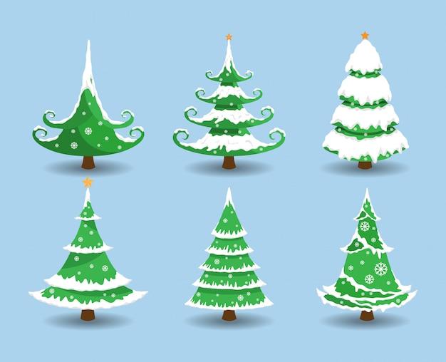 雪のクリスマスツリー。