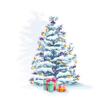 Елка с игрушками и подарками