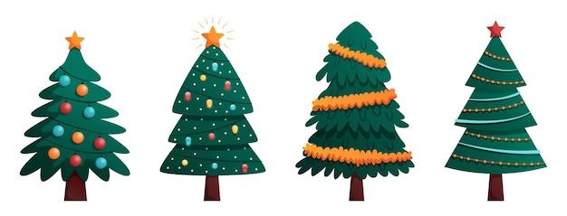 ガーランドティンセル懐中電灯とクリスマスツリーコレクション