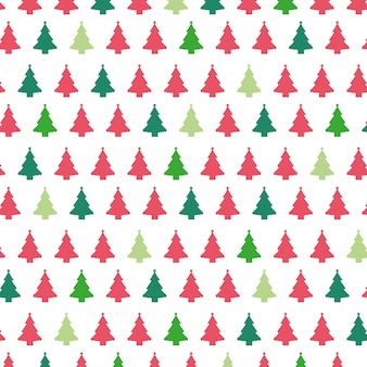 Christmas trees pattern background.