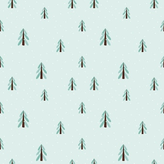 Christmas trees seamless pattern. scandinavian style. new year holidays. stylized tree for print, digital paper, design, fabric, decor, gift wrap. versatile design. vector illustration, doodle