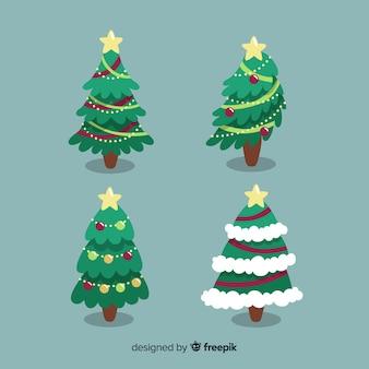 Set di alberi di natale