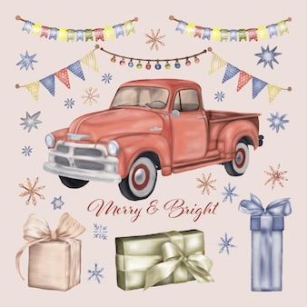 ギフトボックス付きクリスマストラック