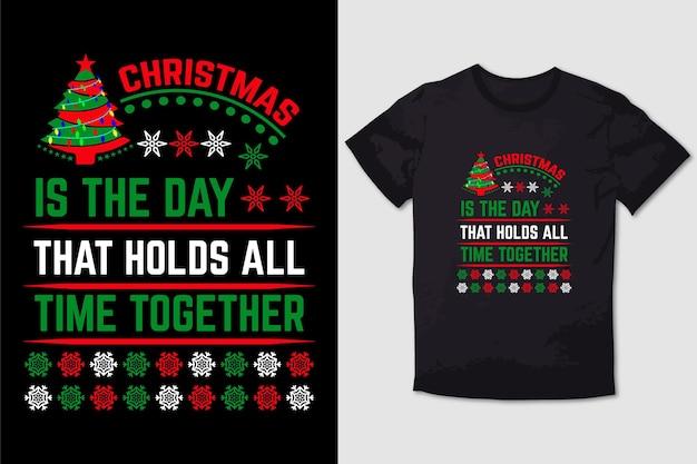 크리스마스 티셔츠 디자인 크리스마스는 항상 함께하는 날입니다