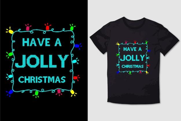 크리스마스 티셔츠 디자인은 즐거운 크리스마스를 보내세요