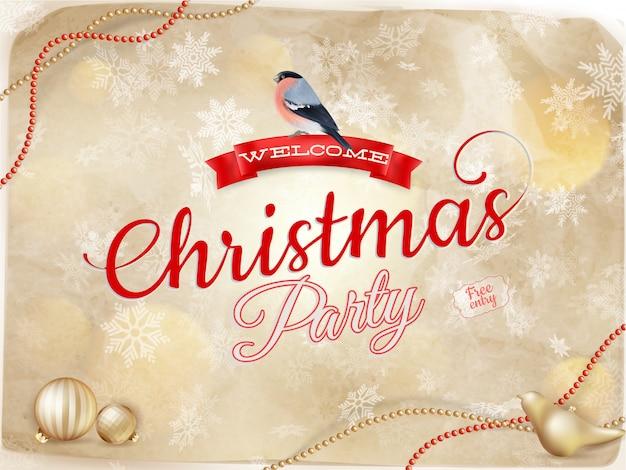 雪のクリスマス型デザイン。