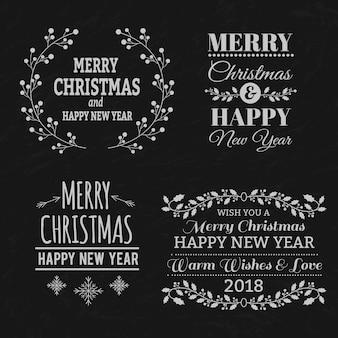 クリスマスのタイポグラフィー要素