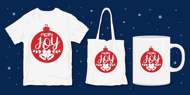 티셔츠 상품을위한 크리스마스 타이포그래피 디자인